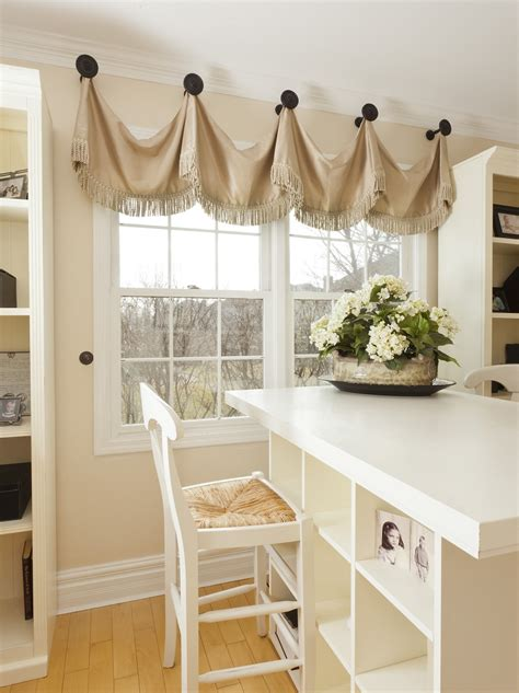 Handmade Window Treatments - valance curtains on premier prints robert