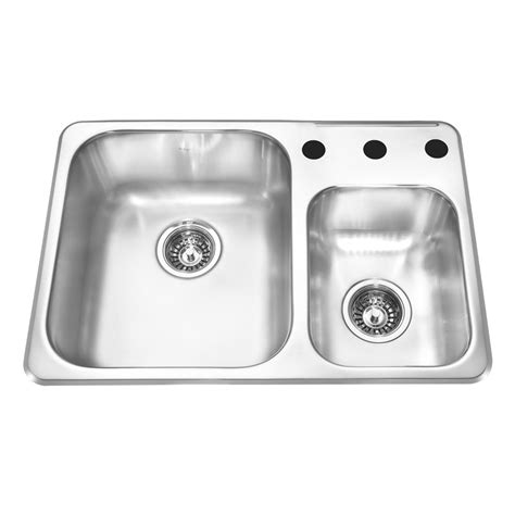 reginox kitchen sinks kindred rcm1826 3 reginox topmount 26 5 in double offset