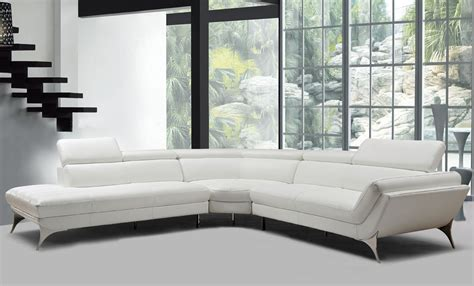 White Sectional Leather Sofa Modern Divani Casa Graphite Modern White Leather Sectional Sofa