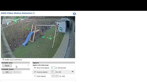 motion detection axis motion detection 3 0 1 swaying objects