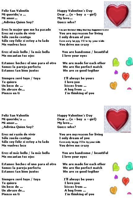 valentines day list s day vocabulary list of phrases for