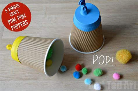 Paper Cup Crafts For - paper cup popper craft ted s