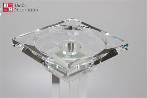 kerzenhalter glas kristall 2er kerzenst 228 nderset kristall kerzenhalter kerzenleuchter