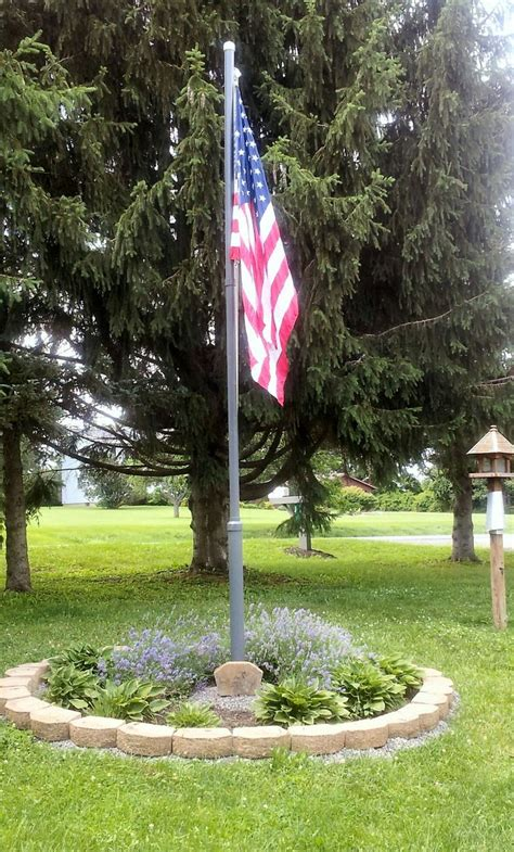 flagpole landscaping images  pinterest