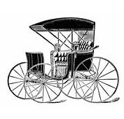 Horse Drawn Carriage Clip Art Vintage Transportation Image Black And
