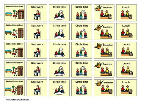 Visual Schedule Cards Visual Schedule Template Schedule Cards Template