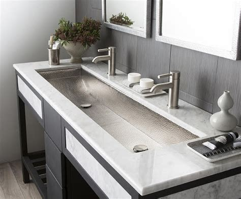 double trough style bathroom sink double trough sink for bathroom how to choose the best