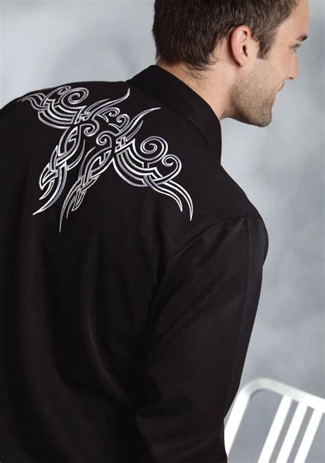 tattoo tribal shirt roper men s tribal tattoo western shirt