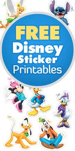 free printable disney planner stickers free disney sticker printables disney world pinterest