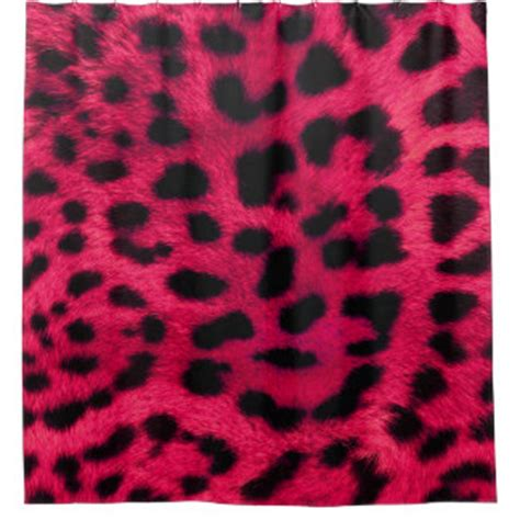 pink cheetah print curtains cheetah print shower curtains zazzle