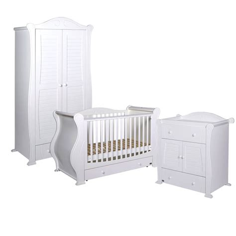 White Baby Bedroom Furniture Sets by Tutti Bambini 3 Nursery Furniture Set White