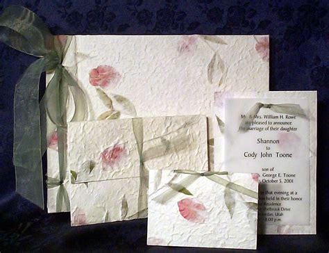 Handmade Paper Invitations - unique handmade invitations and handmade paper invitations