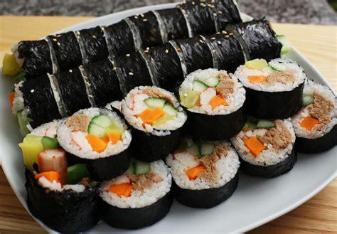 korean dishes korean food photo kimbap maangchi