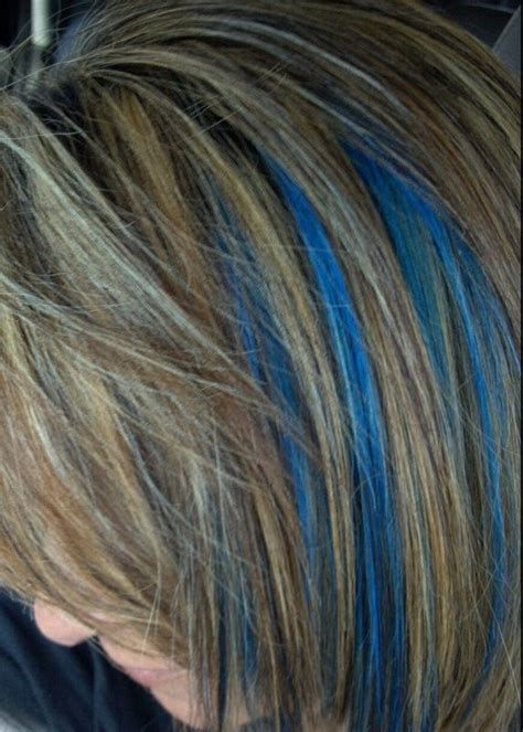 28 The Gallery For Gt Electric Blue Highlights In Brown Hair