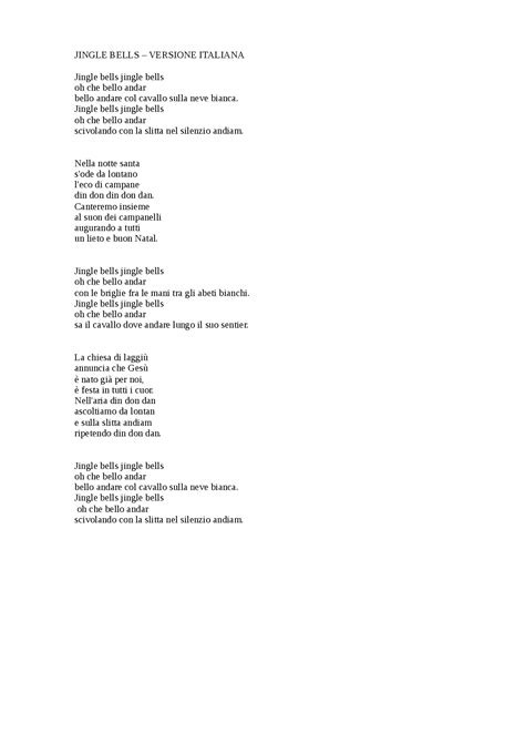jingle bell testo italiano testo di jingle bells 28 images musica e spartiti