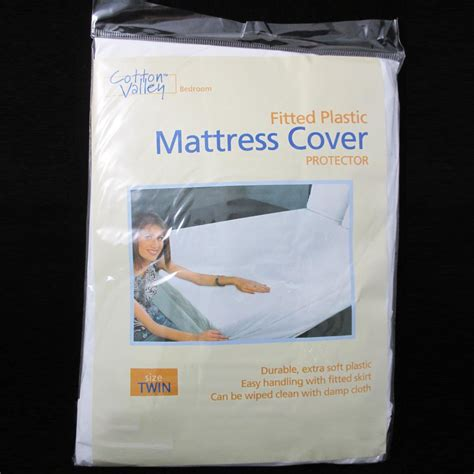 bed bug plastic cover size fitted mattress cover vinyl waterproof allergy