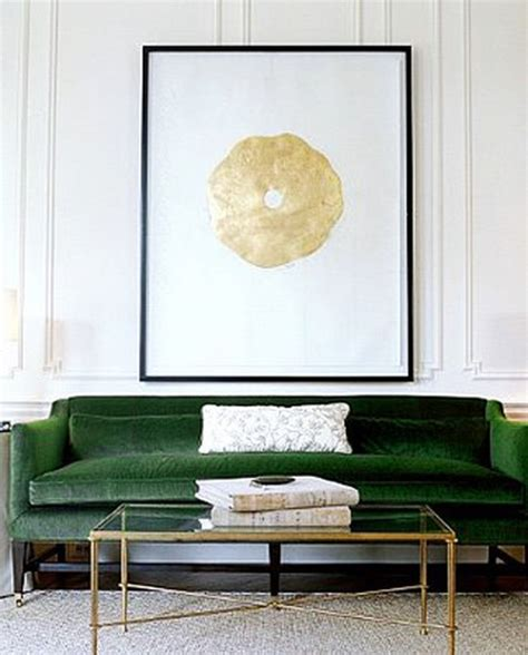 green couch decor green sofa with gold black white and glass home