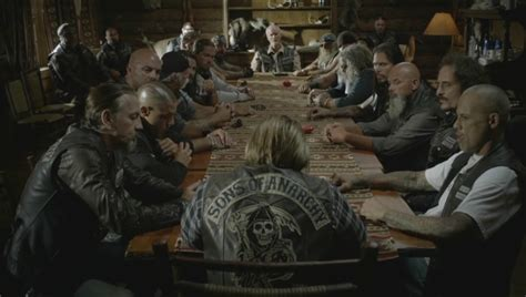 Sons Of Anarchy Meeting Table Sons Of Anarchy Season 06 Reviews Bladeofthesashurai Page 2