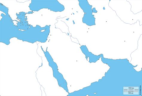 blank map of arab world south west asia free map free blank map free outline