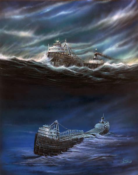 ss edmund fitzgerald sinking carl d bradley by steve witucki shipwrecks in 2018