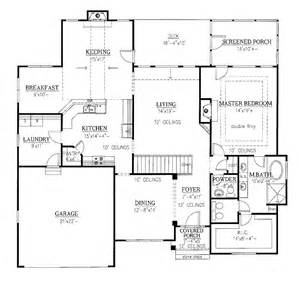 One Level House Plans With Basement One Level Home Plans Smalltowndjs Com