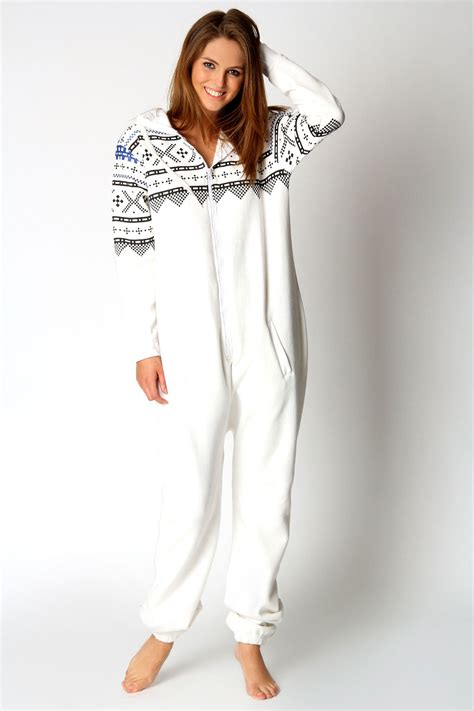 zip onesies boohoo diana aztec printed sleeve zip onesie ebay