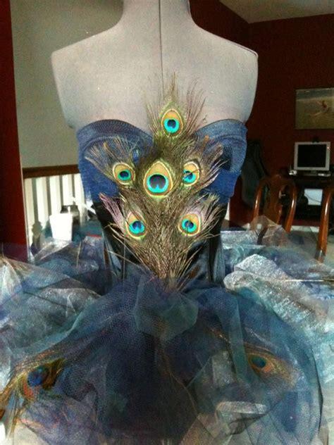 Handmade Peacock Costume - peacock costume custom to order