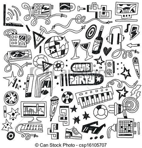 doodle sign up for event vector clipart of club doodles club