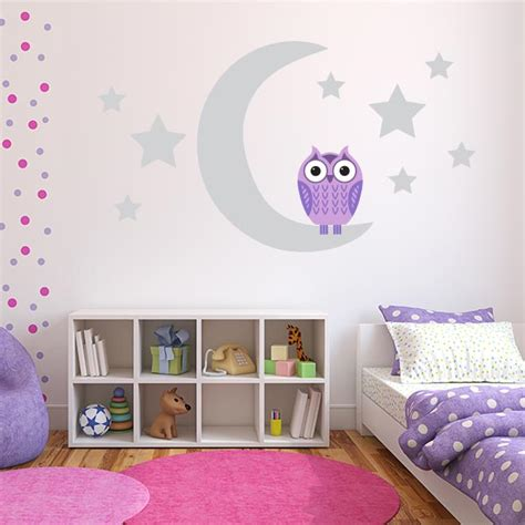 Purple Owl Wall Decals Owl Wall Stickers For Nursery Purple Wall Decals For Nursery