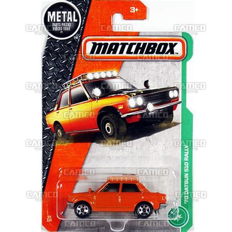 Diecast Matchbox Datsun Rally 510 camco toys diecast distributor for the wheels