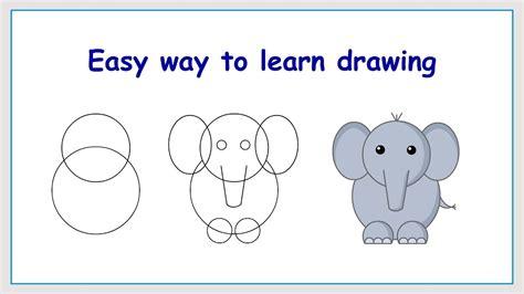 www easy easy steps to draw elephant learn how to draw elephant in