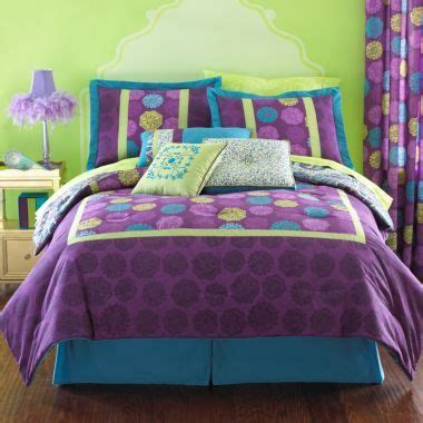 purple and olive green bedroom teal purple and lime green infuse this chelsea comforter