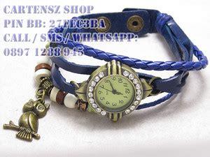 Jam Tangan Pria Wanita Jam Tangan Burung Hantu Klipper Jtr 256 Black 1 Jual Jam Tangan Gelang Vintage Model Burung Hantu