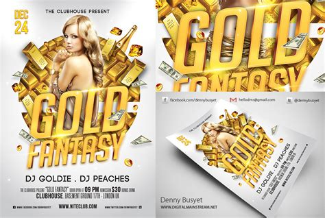 20 Gold Psd Flyer Images Gold Flyer Templates Black And Gold Flyer Template And Pink Gold Flyer Template