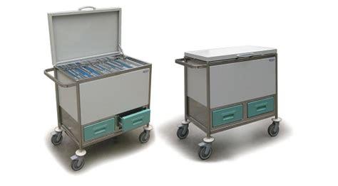 ufficio cartelle cliniche carrello portacartelle con 2 cassetti piano di appoggio e