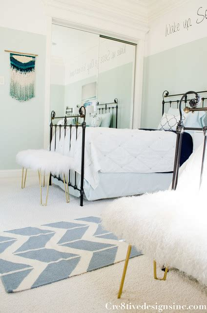 navy turquoise bedroom guest bedroom in navy turquoise and white modern san diego by cre8tive interior