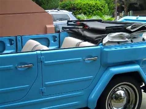 volkswagen thing blue 1974 baby blue vw thing youtube