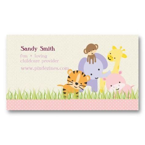 childcare business cards templates 17 best images about child care business cards on