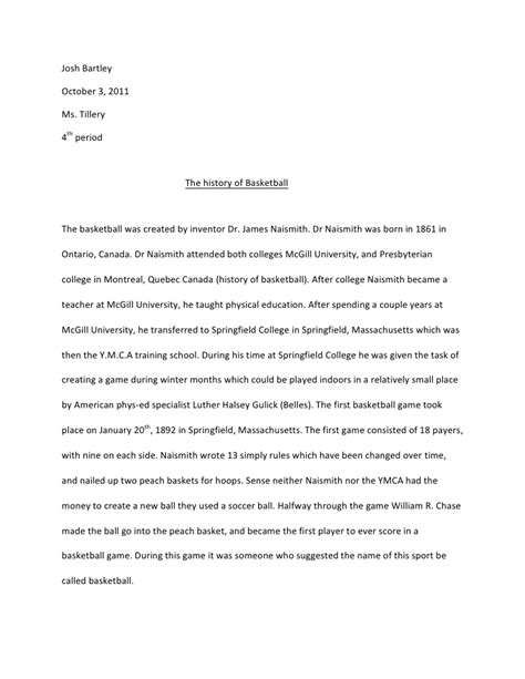 research paper on basketball research paper senior project