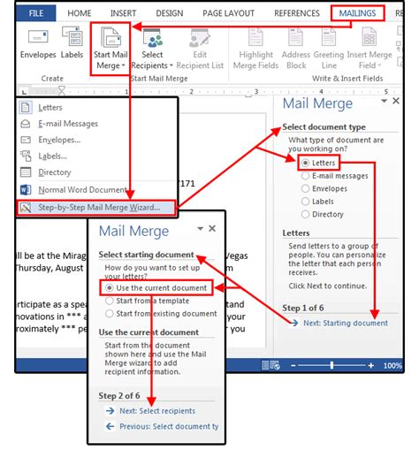 how to setup mail merge on microsoft word tech kaki tips and