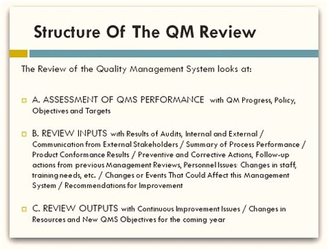 quality management review template images frompo