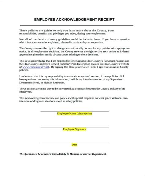 notice of receipt and acknowledgement template notice and acknowledgment of receipt viqoo club