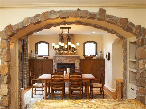 decorative homes kitchen stone arch ideas