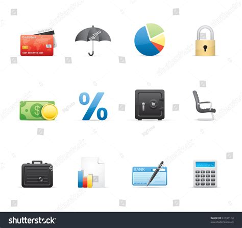 eps format edit banking and finance icon set 16 glossy series vector