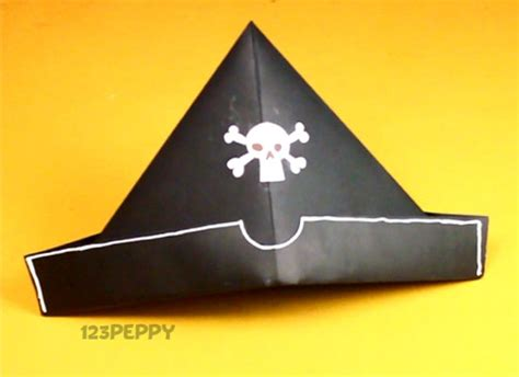 Pirate Hat Origami - pirate crafts materials for pirate hat craft family