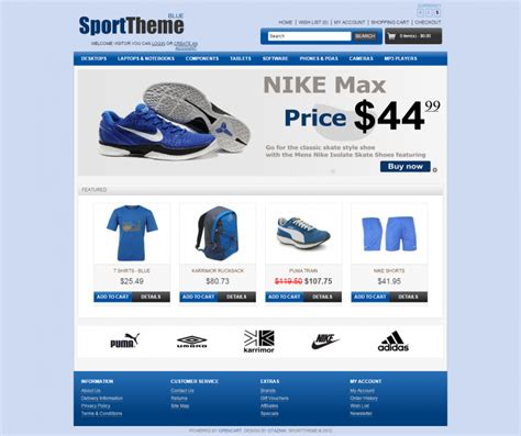 10 best sports opencart website templates themes free