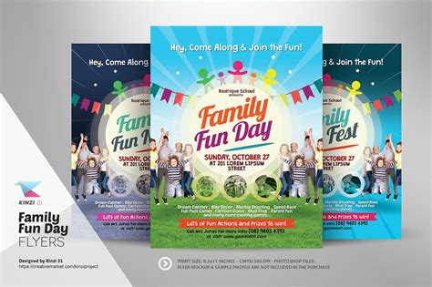 s day for family family day flyers flyer templates creative market