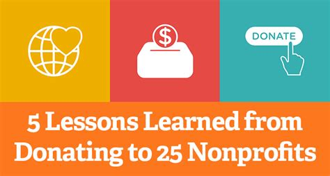 5 Lessons Learned Companies by 5 Lessons Learned From Donating To 25 Nonprofits