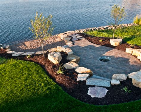 lakefront beach style landscape minneapolis by mt carpenter landscape inc