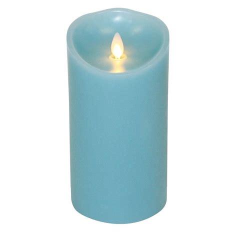 Luminara candle flameless led 3 5 x 7 quot blue ocean breeze